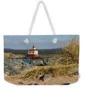 Lighthouse Over The Dunes Weekender Tote Bag