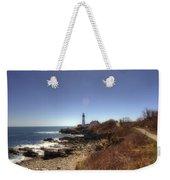 Lighthouse Path Weekender Tote Bag by Joann Vitali