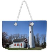 Lighthouse - Sturgeon Point Michigan Weekender Tote Bag