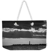 Lighthouse Sun Rays Bw Weekender Tote Bag