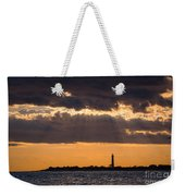 Lighthouse Sun Rays Weekender Tote Bag