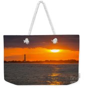 Lighthouse Sun Reflections Weekender Tote Bag