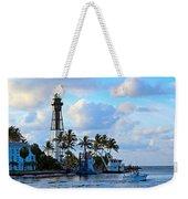Lighthouse Sunrise Weekender Tote Bag