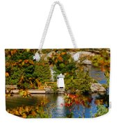 Lighthouse Through The Leaves Weekender Tote Bag