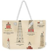 Lighthouses Of The East Coast Weekender Tote Bag