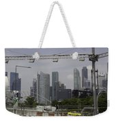 Lighting Work For The Singapore Formula One And A View Of The Helix Bridge Weekender Tote Bag