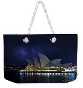 Lightning Behind The Opera House Weekender Tote Bag