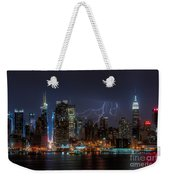 Lightning Over New York City IIi Weekender Tote Bag by Clarence Holmes