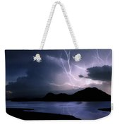 Lightning Over Quartz Mountains - Oklahoma Weekender Tote Bag