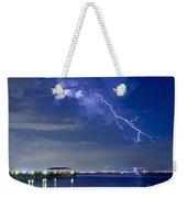 Lightning Over Safety Harbor Pier Weekender Tote Bag