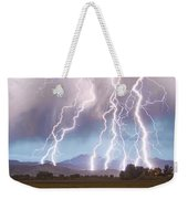 Lightning Striking Longs Peak Foothills 4c Weekender Tote Bag by James BO  Insogna