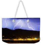 Lightning Striking Over Ibm Boulder Co 3 Weekender Tote Bag