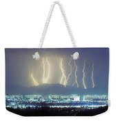 Lightning Striking Over Phoenix Arizona Weekender Tote Bag