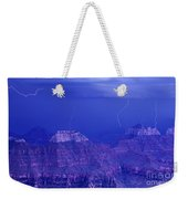 Lightning Strkes At The North Rim Grand Canyon National Park Weekender Tote Bag