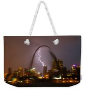 Lightning With The St Louis Arch Weekender Tote Bag