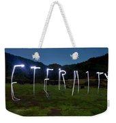 Lightpainting Image Spelling The Word Weekender Tote Bag