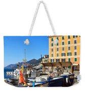Liguria - Harbor In Camogli Weekender Tote Bag