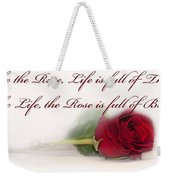 Like The Rose Weekender Tote Bag by Mechala  Matthews