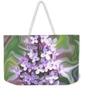Lilac Abstract Weekender Tote Bag