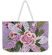 Lilac And Rose Bouquet Weekender Tote Bag