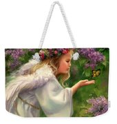 Lilac Angel Weekender Tote Bag