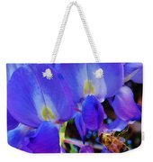 Lilac Blossom And Honey Bee Weekender Tote Bag