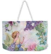 Lilac Enchanting Flower Fairy Weekender Tote Bag