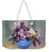 Lilac In Blue Vase Weekender Tote Bag