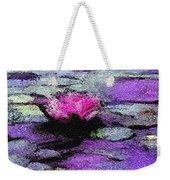 Lilac Lily Pond Weekender Tote Bag