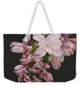 Lilac On Black Weekender Tote Bag