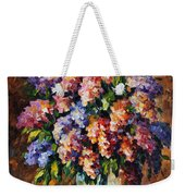 Lilac - Palette Knife Oil Painting On Canvas By Leonid Afremov Weekender Tote Bag