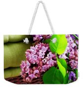 Lilac Still Life Weekender Tote Bag by Lainie Wrightson