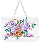 Lilac Vintage Impressionism Painting Weekender Tote Bag