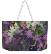 Lilacs And Blue Vase Weekender Tote Bag