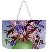 Lilacs And Queen Anne's Lace In Pink And Purple Weekender Tote Bag