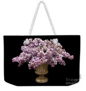Lilacs In A Green Vase - Flowers - Spring Bouquet Weekender Tote Bag