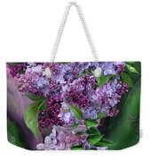 Lilacs In Lilac Vase Weekender Tote Bag