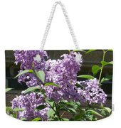 Lilacs Up Against The Wall Weekender Tote Bag