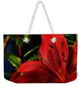 Lilies By The Water Weekender Tote Bag by Randy Hall