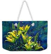 Lilies Weekender Tote Bag by Zaira Dzhaubaeva