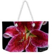 Lilium Pink Stargazer Weekender Tote Bag