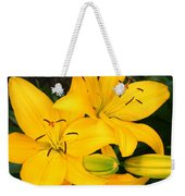 Lillies In Yellow Weekender Tote Bag