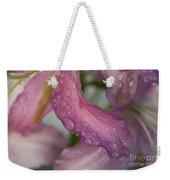 Lily In The Rain Weekender Tote Bag