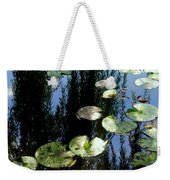 Lilly Pad Reflection Weekender Tote Bag
