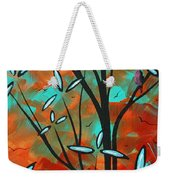 Lilly Pulitzer Inspired Abstract Art Colorful Original Painting Spring Blossoms By Madart Weekender Tote Bag