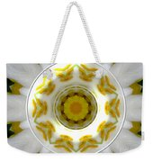 Lily And Daffodil Kaleidoscope Under Glass Weekender Tote Bag
