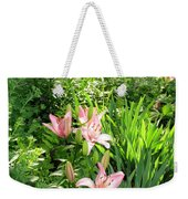 Lily Garden Weekender Tote Bag