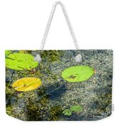 Lily Leafs On The Water Weekender Tote Bag