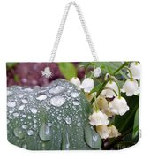 Lily Of The Valley After The Rain Weekender Tote Bag