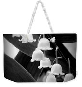 Lily Of The Valley Black And White Weekender Tote Bag